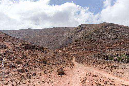 Landscape of volcanic desert of Lanzarote, Spain