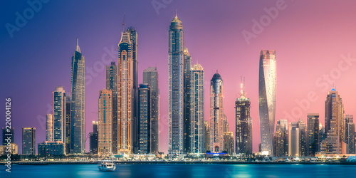 Recess Fitting Dubai Dubai Marina bay view from Palm Jumeirah, UAE