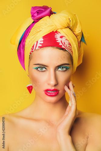 Fotografia  bright close-up portrait