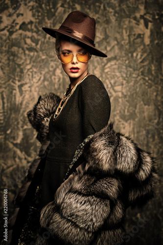 Fotografia  winter luxurious look