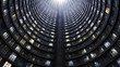canvas print picture - A inside of tall famous tower, Johannesburg, South Africa