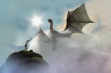 3D Illustration Of A Knight Fi...