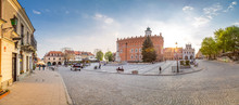 Sandomierz Market Panorama, Old Town, Streets, Poland City