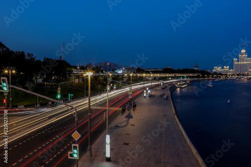Foto op Aluminium Nacht snelweg In the evening
