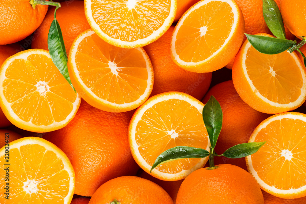 Fototapeta slices of citrus fruits - oranges