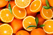 canvas print picture - slices of citrus fruits - oranges