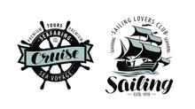 Sailing, Cruise Logo Or Label....