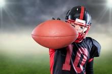American Football Player Isola...