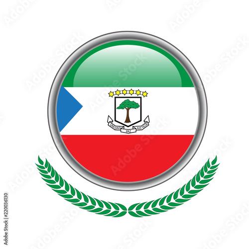 Fotografía  Equatorial-guinea flag button
