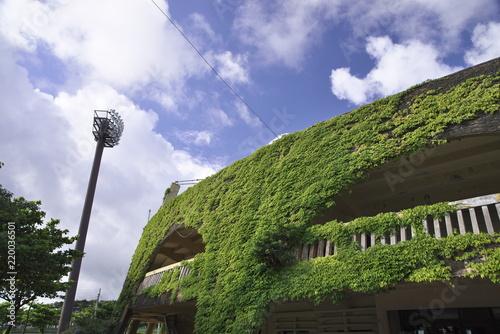 Spoed Foto op Canvas Stadion Nago City Municipal Stadium in Okinawa Prefecture
