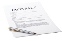 Ballpoint Pen On Top Of A Contract