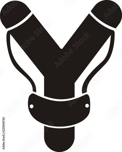slingshot icon vector on white background Canvas-taulu