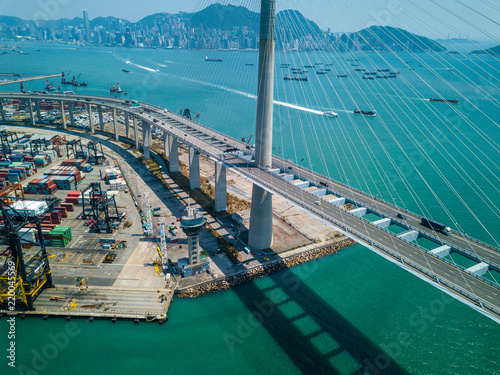 Spoed Foto op Canvas Poort Kwai Tsing Container Terminals
