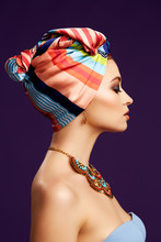 Close Up Colorful Ethnic Por...