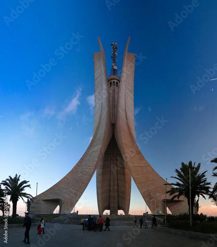 Exterior view to shrine of the martyr, Algiers, Algeria Tapéta, Fotótapéta