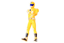 Robot Toys Yellow Isolated White Background