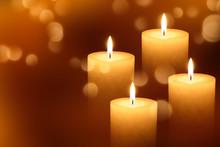 Vier Brennende Adventskerzen