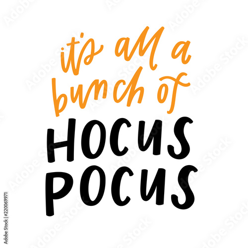 Poster Halloween It's all a bunch of hocus pocus