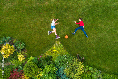 children in the garden, top view #220070347