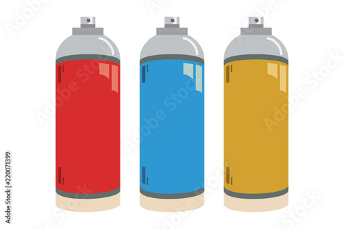 Aerosoles de color rojo, azul y amarillo. Canvas Print
