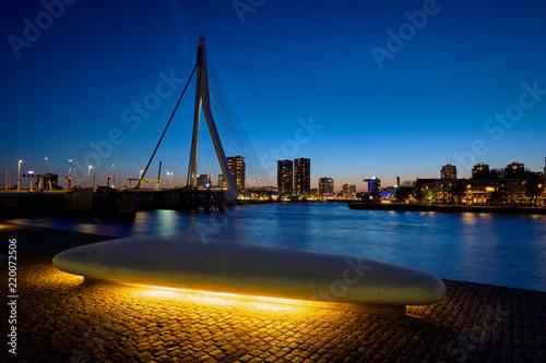 Foto op Canvas Oceanië Erasmus Bridge, Rotterdam, Netherlands