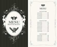 Vector Menu For Restaurant Or ...