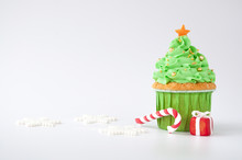 New Year Or Christmas Green Cu...