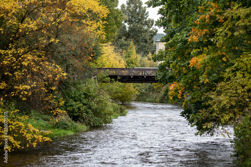 Foto op Canvas Herfst Vilnele river in Uzipis district