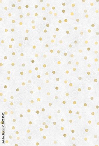 Goldene Punkte auf strukturiertem Papier