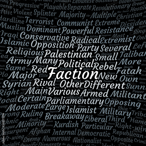 Fotografie, Obraz  Faction word cloud
