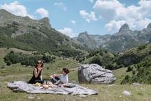 Romantic Picnic In The Mountai...