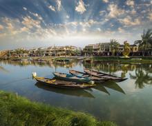 Traditional Wooden Boats - Hoian - Vietnam
