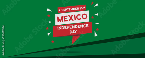 Cuadros en Lienzo Mexico Independence Day national celebration panorama banner