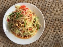 Thai Cusine Somtum Or Spicy Pa...