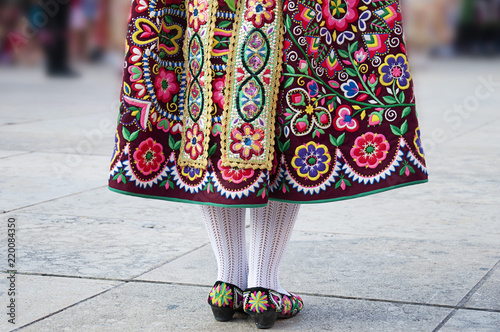 Detail of one of the folk costume of Zamora, Spain