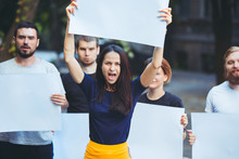 Group Of Protesting Young Peop...