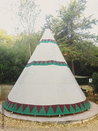 Obraz na płótnie Tipis to stay on a camping holiday.