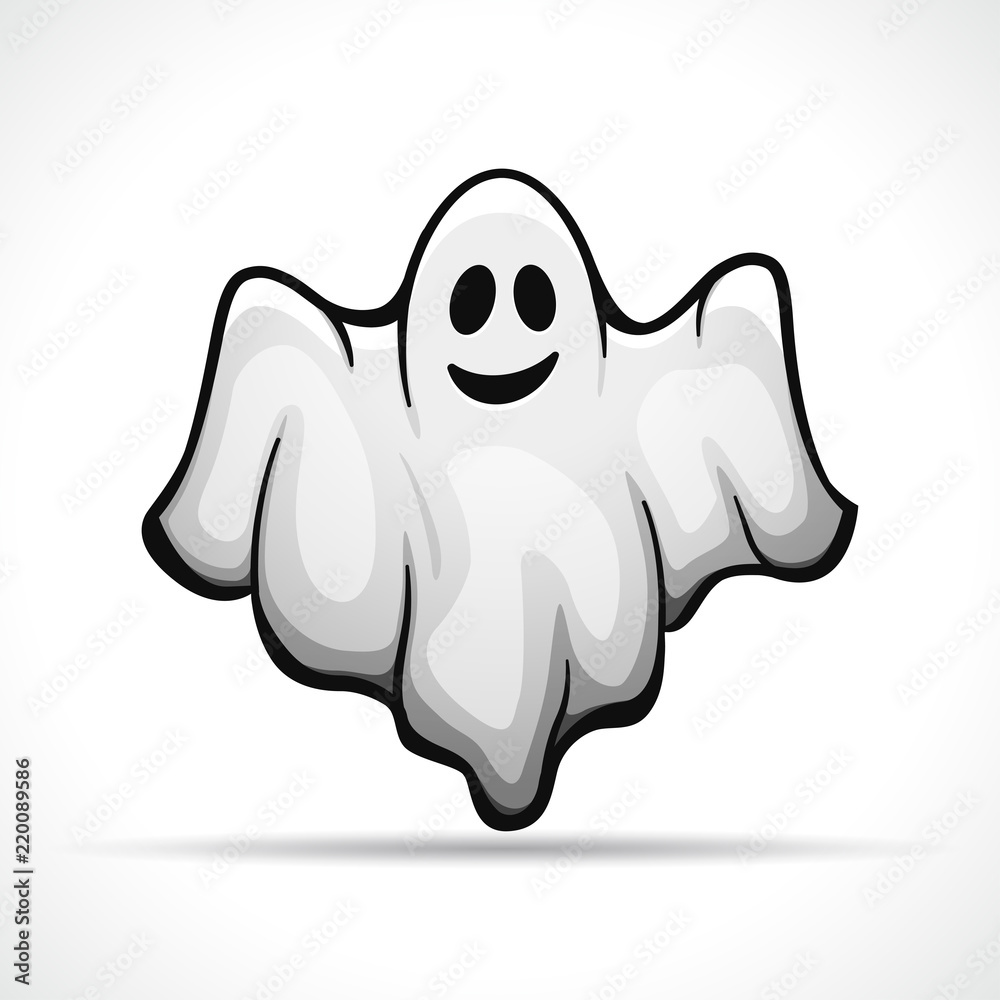 Fototapeta Vector ghost on white background