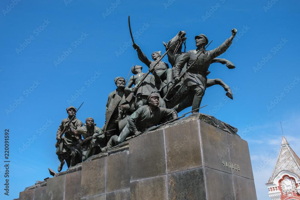 Valokuva  Granite monument to Chapaev.