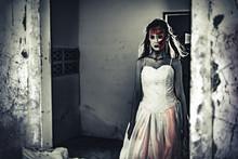 Female Zombie Corpse Standing ...