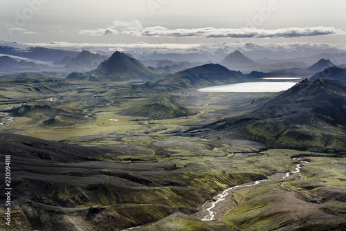 Iceland, South West, View from Laugavegur trail from Landmannalaugar to Porsmoerk - 220094118