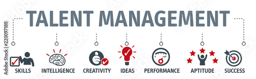 Obraz na plátně Banner talent management concept