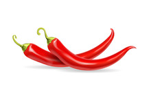 Realistic Red Hot Chili Pepper...