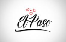 El Paso City Design Typography...