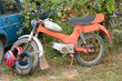Alte Mofa Motorroller in Serbien