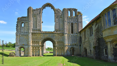 The remains of Castle Acre Priory Norfolk Canvas Print