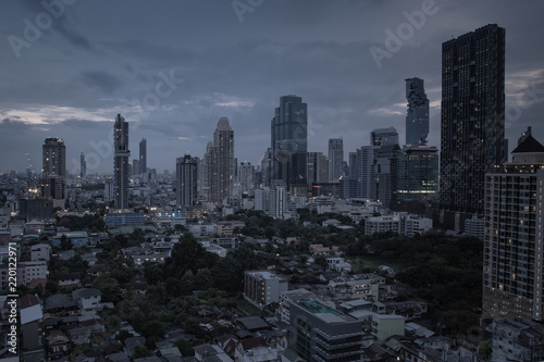 Fototapety, obrazy: Bangkok city scape with beatiful moment of light