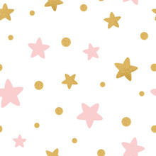 Vector Seamless Pattern Gold P...
