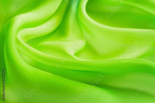 folds bright yellow green transparent fabric - 220123765