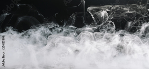 Poster Fumee Realistic dry ice smoke clouds fog